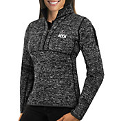 Antigua Women's Super Bowl LI Bound Atlanta Falcons Fortune Black Pullover