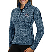 Antigua Women's 5X Super Bowl LI Champions New England Patriots Fortune Quarter-Zip Navy Jacket