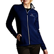 Antigua Women's Super Bowl LI Champions New England Patriots Leader Full-Zip Navy Jacket
