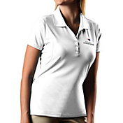 Antigua Women's Super Bowl LI Champions New England Patriots Pique Xtra-Lite White Polo