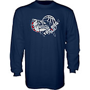 Blue 84 Men's Gonzaga Bulldogs Blue 'Top Dog' Basketball Long Sleeve Shirt