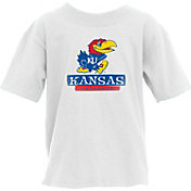 Blue 84 Youth Kansas Jayhawks Logo White T-Shirt