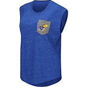 Colosseum Athletics Women's Kansas Jayhawks  Blue Pocket Tank Top