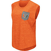 Colosseum Athletics Women's Miami Hurricanes Orange Pocket Tank Top