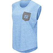 Colosseum Athletics Women's North Carolina Tar Heels Carolina Blue Pocket Tank Top