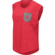 Colosseum Athletics Women's North Carolina State Wolfpack Red Pocket Tank Top