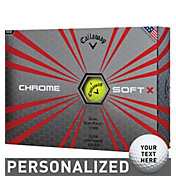 Callaway Chrome Soft X Yellow Personalized Golf Balls