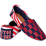 Forever Collectibles Boston Red Sox Striped Canvas Shoes