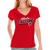 Touch by Alyssa Milano Women's Atlanta Falcons Foil V-Neck T-Shirt