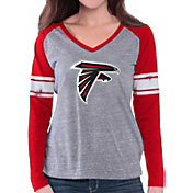 G-III for Her Women's Atlanta Falcons Raglan Grey Long Sleeve Shirt