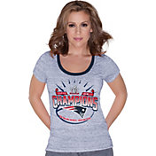 Touch by Alyssa Milano Women's Super Bowl LI Champions New England Patriots Football T-Shirt