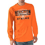 G-III Men's Houston Dynamo Logo Orange Long Sleeve T-Shirt