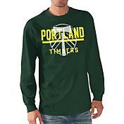 G-III Men's Portland Timbers Logo Green Long Sleeve T-Shirt