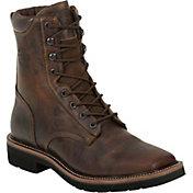 Justin Men's Rugged Tan Stampede Steel Toe Work Boots