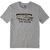 Life is Good Men's Time Machine Wagon Smooth T-Shirt