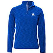 Levelwear Men's Kentucky Wildcats Blue Mobility Long Sleeve Quarter-Zip Shirt
