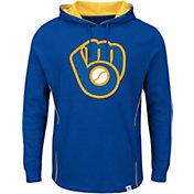Majestic Men's Milwaukee Brewers Cooperstown Royal Pullover Hoodie