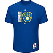 Majestic Men's Milwaukee Brewers Authentic Collection Royal T-Shirt