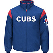 Majestic Men's Chicago Cubs Therma Base Royal On-Field Premier Jacket