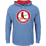 Majestic Men's St. Louis Cardinals Cooperstown Light Blue Pullover Hoodie