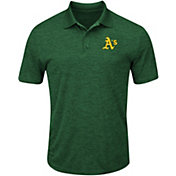 Majestic Men's Oakland Athletics Cool Base Green Polo