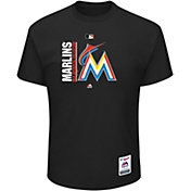 Majestic Men's Miami Marlins Authentic Collection Black T-Shirt