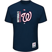 Majestic Men's Washington Nationals Authentic Collection Navy T-Shirt