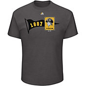 Majestic Men's Pittsburgh Pirates Baseball Beginnings Grey T-Shirt