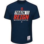 Majestic Men's Detroit Tigers 2017 Spring Training Authentic Collection Navy T-Shirt