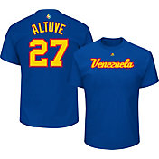 Majestic Men's Replica 2017 WBC Venezuela Jose Altuve #27 Royal T-Shirt
