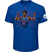 Majestic Men's Philadelphia 76ers Joel Embiid Celebration Royal T-Shirt