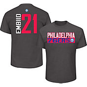 Majestic Men's Philadelphia 76ers Joel Embiid #21 Grey T-Shirt
