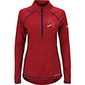 Majestic Women's St. Louis Cardinals Cool Base Red Half-Zip Pullover