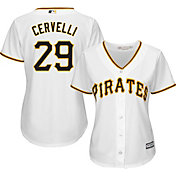 Majestic Women's Replica Pittsburgh Pirates Francisco Cervelli #29 Cool Base Home White Jersey
