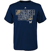 Majestic Youth Milwaukee Brewers Spark Navy T-Shirt
