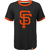 Majestic Youth San Francisco Giants Ringer Black T-Shirt
