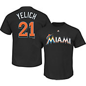 Majestic Youth Miami Marlins Christian Yelich #21 Black T-Shirt