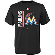 Majestic Youth Miami Marlins Authentic Collection Black T-Shirt