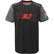 Majestic Youth Miami Marlins Cool Base Club Series Black Performance T-Shirt