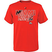 Majestic Youth Miami Marlins Spark Orange T-Shirt
