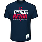 Majestic Youth Cleveland Indians 2017 Spring Training Authentic Collection Navy T-Shirt