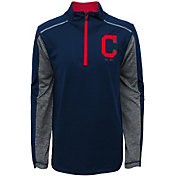 Majestic Youth Cleveland Indians Club Series Navy Quarter-Zip Fleece