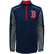 Majestic Youth Boston Red Sox Club Series Navy Quarter-Zip Fleece