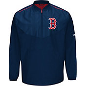 Majestic Youth Boston Red Sox Cool Base Navy On-Field Half-Zip Jacket