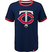 Majestic Youth Minnesota Twins Ringer Navy T-Shirt