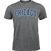 Majestic Threads Men's Chicago Cubs Grey Tri-Blend T-Shirt