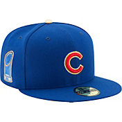 New Era Men's Chicago Cubs World Series Champs 59Fifty Royal/Gold Authentic Hat