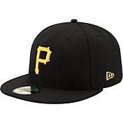 New Era Men's Pittsburgh Pirates 59Fifty Game Black Authentic Hat