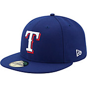 New Era Men's Texas Rangers 59Fifty Game Royal Authentic Hat