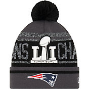 New Era Men's Super Bowl LI Champions New England Patriots Grey Pom Knit